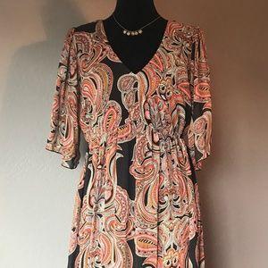 Enfocus Studio Long Dress, Paisley Pattern Size 14